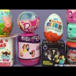 Toy Surprise Eggs Peppa Pig Teenage Mutant Ninja Turtles Shopkins Season 5 Num Noms Minecraft Barbie