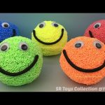Foam Clay Smiley Face Surprise Eggs Hello Kitty Spider Man Disney Cars Paw Patrol