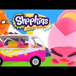 Play Doh Shopkins Ice Cream Truck – – – Shopkins Food Fair Surprise Eggs Toy Unboxing DCTC