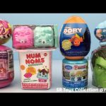 Finding Dory Shopkins Season 5 Num Noms Hulk Barbie Disney Frozen Fashems Surprise Egg Toys for Kids