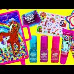 Surprise Toys & Makeup Suitcase! Lisa Frank Rolling Luggage Make Up Fashion & Barbie Makeover