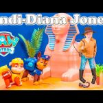 PAW PATROL Nickelodeon Indi Diana Jones Treasure The Assistant Toys Video Parody