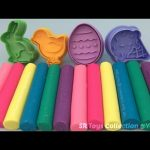Glitter Playdough Modelling Clay with Ice Cream and Egg Molds Fun & Creative