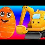 Surprise Eggs Toys – Construction Vehicles for Kids | Bull Dozer, Road Roller & more | ChuChuTV