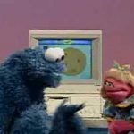 Sesame Street – Cookie and Prairie use a computer