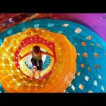 Indoor playground for kids. Fun with balls, tunnels and more toys.Video 2016