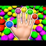 Ball Pit Finger Family 3D for Kids to Learn Colours | Surprise Eggs Nursery Rhymes Colors Collection