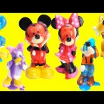 Mickey Mouse Club House Friends LEARN Colors with Bath Soaps and Surprises