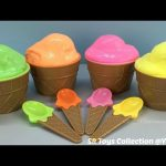 Clay Slime Ice Cream Surprise Eggs with Toys The Octonauts Peppa Pig and Paw Patrol