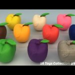 Learn Colours with Play Doh Apples with Beach Theme Molds Fun and Creative for Kids