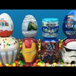 Kids Surprise Toys Cupcake Iron Man Batman TMNT Paw Patrol The Good Dinosaur Kinder Eggs Star Wars