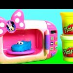 Play Doh Minnie's Magical Microwave Oven Toy Cooking Cars Lightning Dinoco McQueen Clay 。◕‿◕。