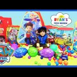 GIANT PAW PATROL SURPRISE TENT Paw Patrol Toys Easter Egg Hunt Surprise Eggs Challenge Kids Ball Pit