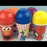 Elmo Spider Man Balls Surprise Cups with Mickey Mouse and Minnie Mouse Toys
