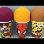 Mickey Mouse Spider Man SpongeBob Surprise Cups Peppa Pig Blind Bag Disney Frozen Egg Paw Patrol Toy