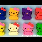 Play and Learn Colours with Play Doh Hello Kitty and Animals Molds Fun Creative for Kids