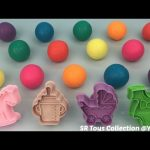 Glitter Play Dough Balls with Baby Theme Molds Fun and Creative for Kids