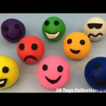 Play and Learn Colours with Play Doh Happy Smiley Laughing Face with Interesting Molds Fun for Kids