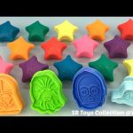 Fun Learning Colours with Glitter Play Doh Stars with Star Wars Molds Creative for Kids