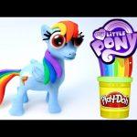 Play Doh Rainbow Dash Stop Motion! Playdough Animación de My Little Pony