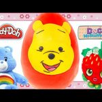 HUGE Winnie The Pooh Surprise Play Doh Egg Shopkins Doc McStuffins Care Bears Toys by DCTC