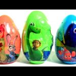 Giant Eggs Zootopia Finding Dory Disney Giant Good Dinosaur Blind Bags Kinder Pets Zootropolis 。◕‿◕。
