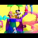 Minnie Mouse Polka Dot Pool Party Surprise with Skye Paw Patrol & Peppa Pig in Spiral Slide 'n Swing