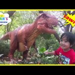 GIANT LIFE SIZE DINOSAUR Theme Park Dinosaurs at the Zoo Family Fun Amusement Activity Kids Video