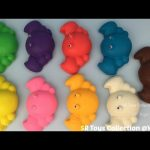 Play Doh Crabs with Hello Kitty and Winnie the Pooh Molds Fun Creative for Kids