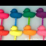 Glitter Playdough Ducks Lollipops with Winter Themed Cookie Cutters Fun and Creative for Kids