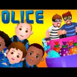 ChuChu TV Police Chase Thief in Railroad Police Car & Save Giant Surprise Eggs Toys, Gifts for Kids