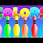 Learn Colors With Bowling Balls | 3D Bowling Game Colors for Children | Learning Videos For Kids