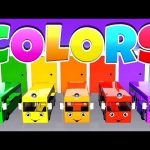 Learning Colors with Color Bus Toy 3d for Kids & Color Garage | Colours Compilation for Children