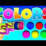 Learn Colors for Kids Gun Game 3D, Teach Colours Baby Children Toddlers Surprise Toy Learning Videos