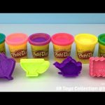 Play Doh Sparkle Compound Collection with Biscuit Teapot and Cup Molds Fun Creative for Kids