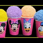 Mickey Mouse and Friends Play Foam Ice Cream Clay Play Foam shopkins Bling bags Surprises Toys