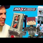 3D Molding Machine! Minecraft Look-alike Wax Action Figures – 3Dit Character Creator Toys DCTC