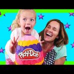 Opening a Large Play Doh Surprise Egg – Toys Inside Out Disney Princess MyLittlePony Shopkins Frozen