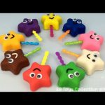 Play Doh Stars Smiley Lollipops with Flower Bird and Butterfly Molds