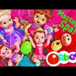 Orbeez Bath for Baby Alive Dolls & Ariel With The Massaging Body Spa Chair + SURPRISE TOYS