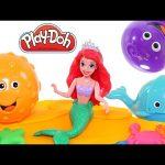 Ariel's Play Doh Ocean Mermaid Tools! Playdough Puffer Fish & Octopus New Play-Doh Toys