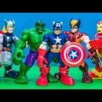 MARVEL AVENGERS Disney Marvel Avenger Ironman, Captain America 5 Pack Avenger Video Review