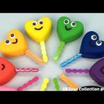 Play Doh Smiley Hearts Lollipops with Cars Molds Fun and Creative for Kids