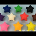 Fun Play and Learn Colours with Playdough Stars with Teapot and Cup Molds