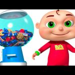 Five Little Babies Playing Ball Machine | Zool Babies Fun Songs | Surprise Ball Machine For Kids
