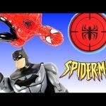 Spider-Man vs Batman Slinging Webs! Marvel Web Warriors Superhero Training Center