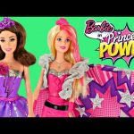 Barbie in Princess Power Super Sparkle and Dark Sparkle Dolls Transform From Hero to Princess DCTC