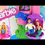 BARBIE Mermaid Splash 'n Slide Castle Disney Princess Ariel Prince Eric Toy Dolls