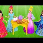 Magiclip Cinderella Castle Dress Swap Disney Princess Frozen Anna Ariel Mini Barbie Dolls Play Doh