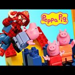 Peppa Pig Blocks Mega Treehouse Playground Construction Set + Duplo Lego Spiderman Stop Motion